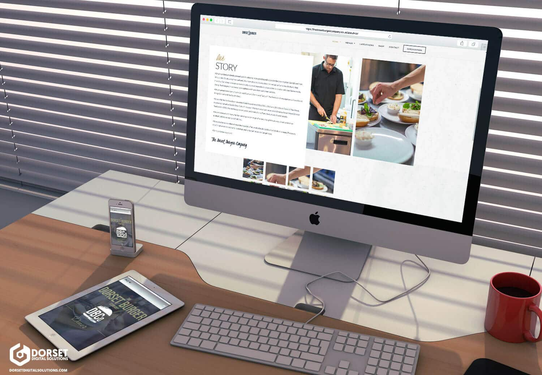 The Dorset Burger Company Website Preview
