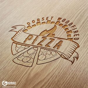 Dorset Wood Fired Pizza Logo [Wood Mock Up]