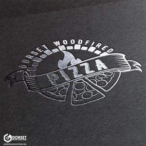 Dorset Wood Fired Pizza Logo [Hot Foil Mock Up]