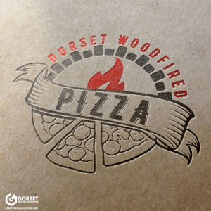 Dorset Wood Fired Pizza Logo [Letter Press Mock Up]